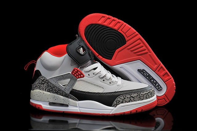 Air Jordan 3.5 Spizike Retro Shoes Wolf grey/red black
